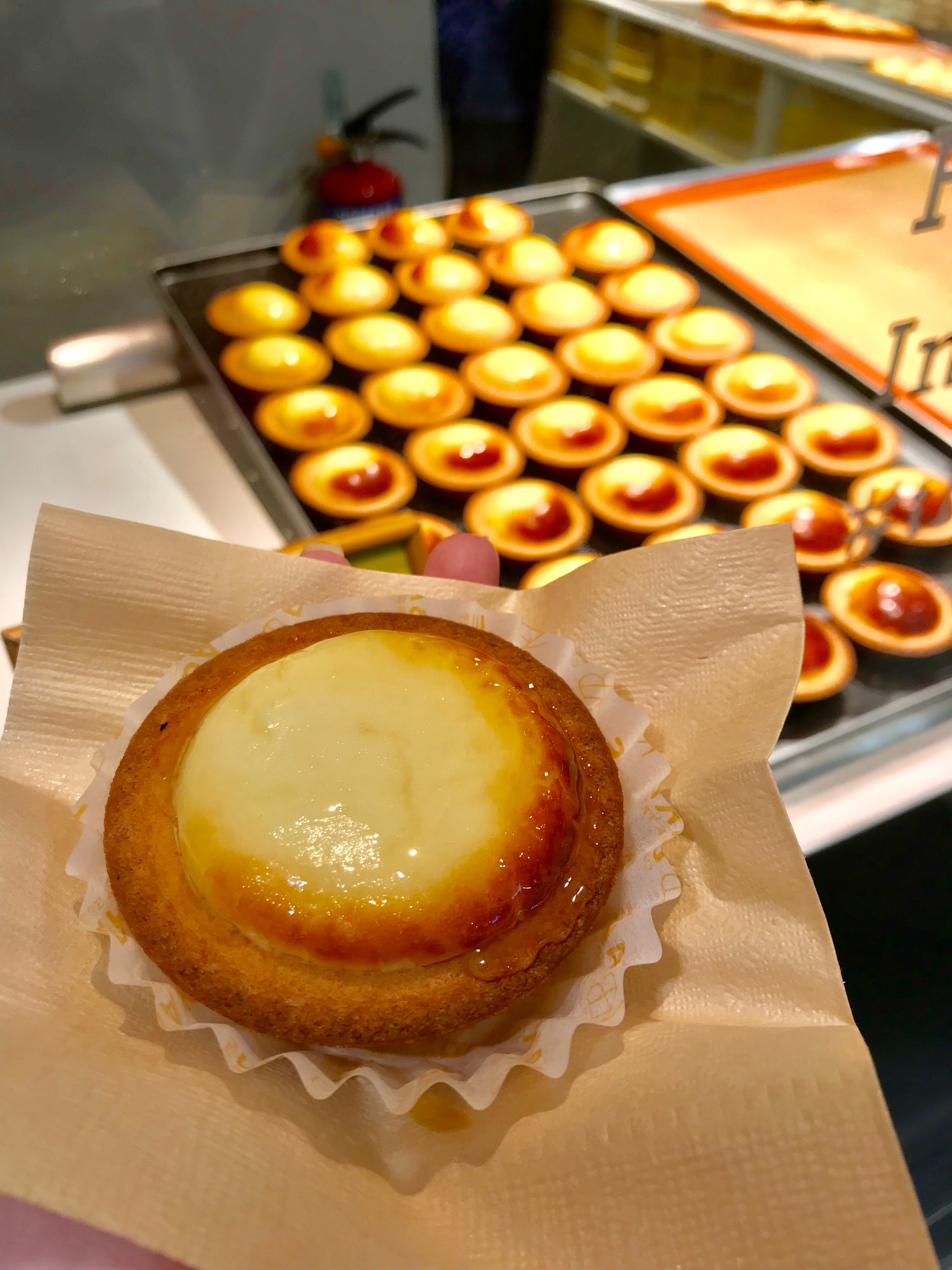 Lemon Cheese Tart With Honey ($3.90)