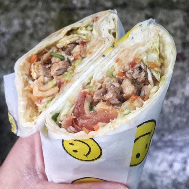 Chicken Kebab Wrap ($4)