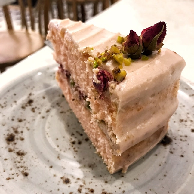 Rose Raspberry Pistachio Cake ($8)