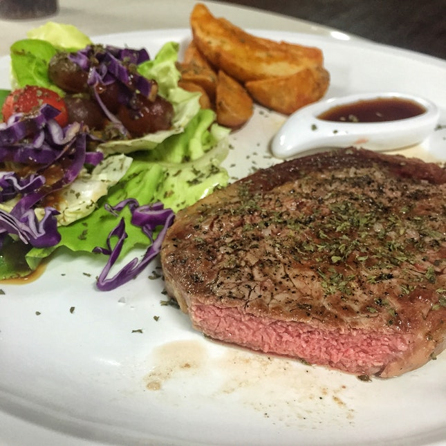 Beef Rib-eye Steak ($22.90)