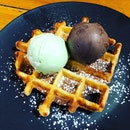 Ice Cream And Waffle