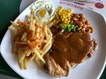Chicken Chop with Brown Sauce
