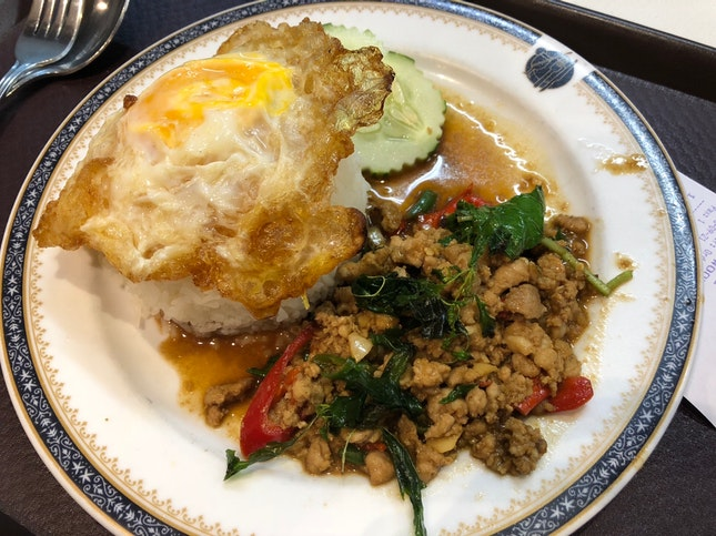 Pork Krapow with Fried Egg