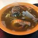Pork Ribs with Prawn Noodle