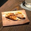Salmon Foie Gras & Aburi Cheese