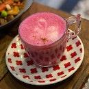 Pink Soy Latte