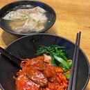 Char Siew Dumpling Tomato Noodle