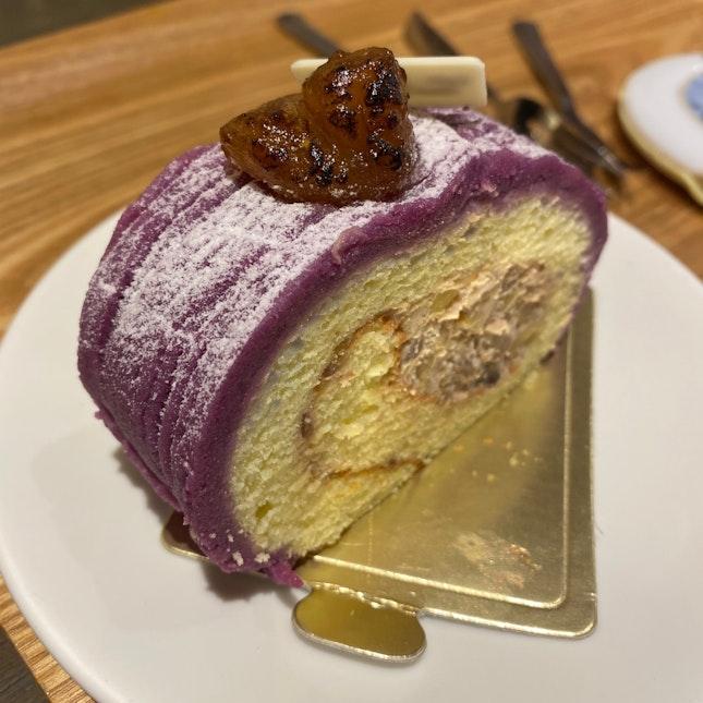 Sweet Purple Potato and Chestnut Roll
