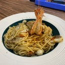 Prawn & Shimeiji Spaghetti