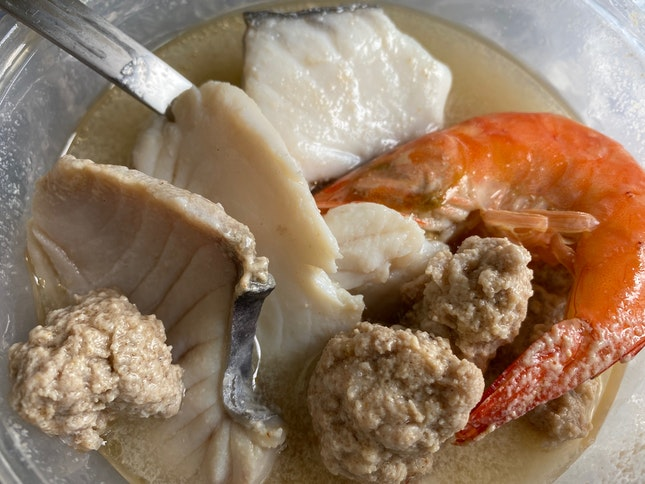 Spanish Mackerel Batang Seafood Soup