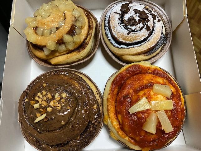 Cinnamon Apple, Cocoa Orange, Hawaiian & Hazelnut Rocher