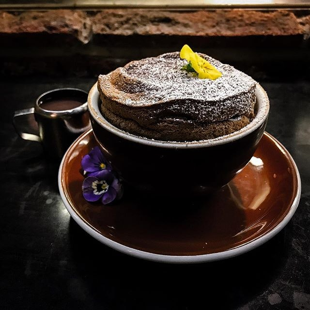 Open Door Policy - Invited Tasting - Desserts - Signature Fluffy Soufflé (💵S$16) Acai Berry Crème Anglaise 🏵 • ACAMASEATS & GTK💮: Originally not on the tasting menu but a nice surprise when their Signature Fluffy Soufflé comes out of the kitchen.