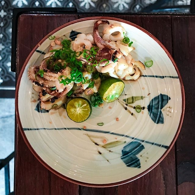 Five Ten - Food - Grilled Squid (💵S$10) Grilled Squid, house glaze & kalamansi.