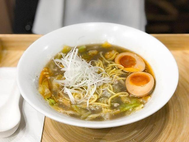 Jimoto Ya @jimotoyasg - Ebi Shio Ramen エビ塩ラーメン (💵S$17) Signature Japanese Sweet Prawn & Pork Bone Broth Ramen with Salt Seasoning.