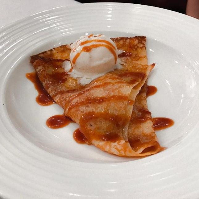 Taratata Bistrot @taratata_bistrot_singapore - 3 Course Lunch (💵S$38++) - Desserts - Crêpes Suzette - Crêpes flambéed with caramelised sugar, butter, orange zest & Grand Marnier.