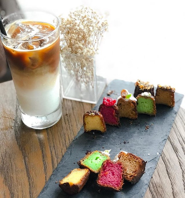 Lê Canelé D'or @lecaneledorsg - Assorted Flavours -  Traditional (Vanilla Bean & Dark Rum), Framboise (Raspberry & Brandy), Stollen (Cinnamon, Rum & Dried Fruits), Ondeh Ondeh (Pandan Leaves & Gula Melaka), Hazelnut (Hazelnut & Milk Chocolate) .