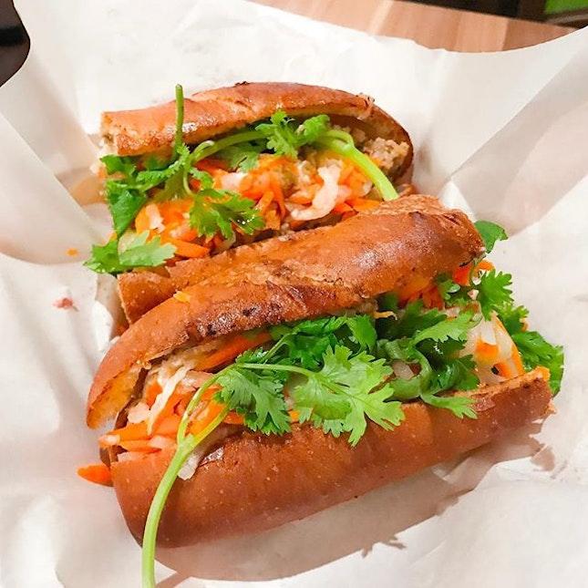 Sandwich Saigon @sandwich_saigon - Bánh Mì - Pork Meatball Sandwich (💵S$8 + Pâté S$1 + Egg Omelette S$1.80) 🥪 • ACAMASEATS & GTK TIPS💮: Some day it's the best Bánh Mì in town, I won't deny that claim.