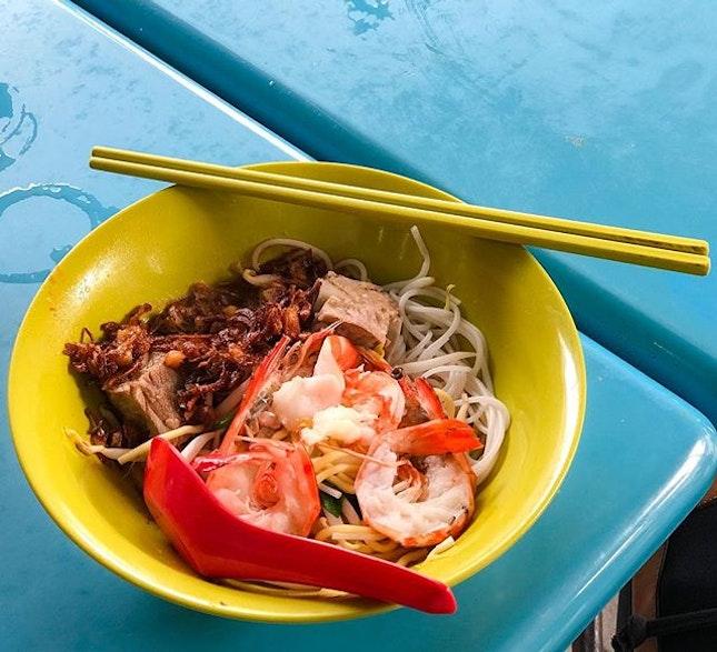 Jalan Sultan Pork Ribs Prawn Mee Dry (💵S$5) 🥢 .