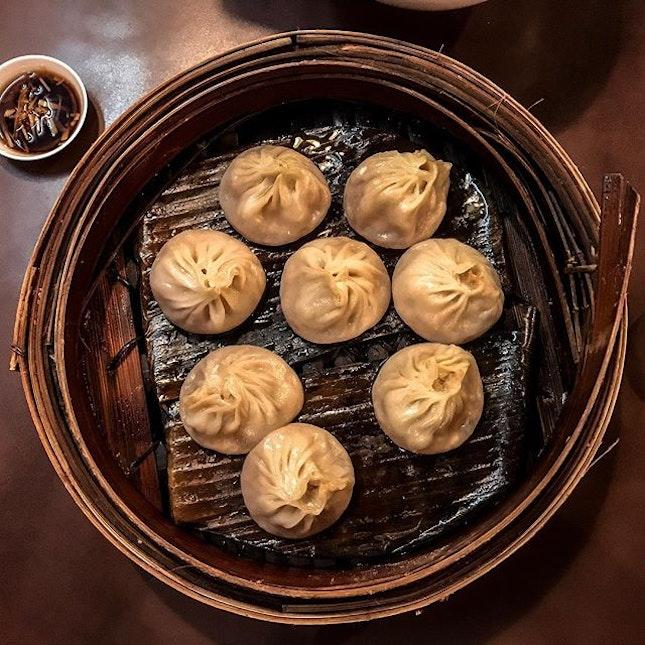 Noodle Man 蘭州拉面 - Steamed Dumplings w/soup 小笼汤包 (💵S$8.80) .