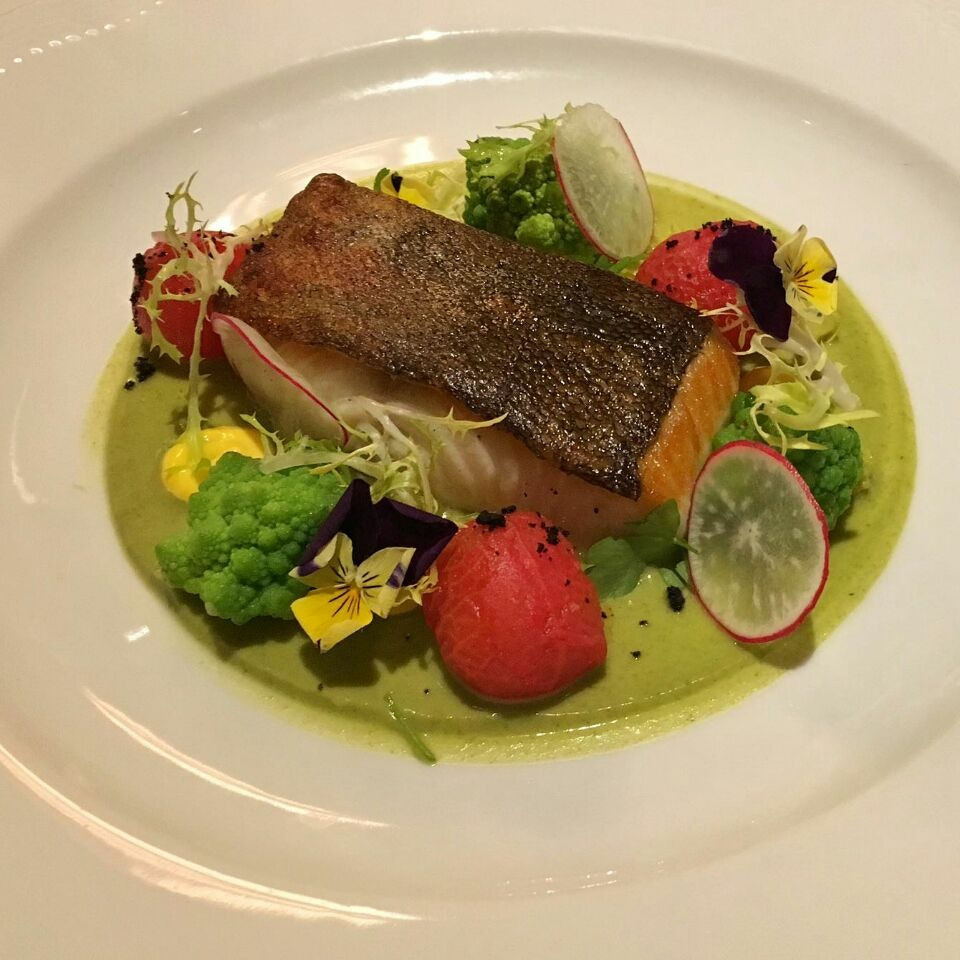Black Cod With Romanesco And Confirm Tomatoes