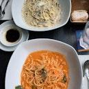 Crab Meat Linguine ($26) | Taglierini Truffle ($30)