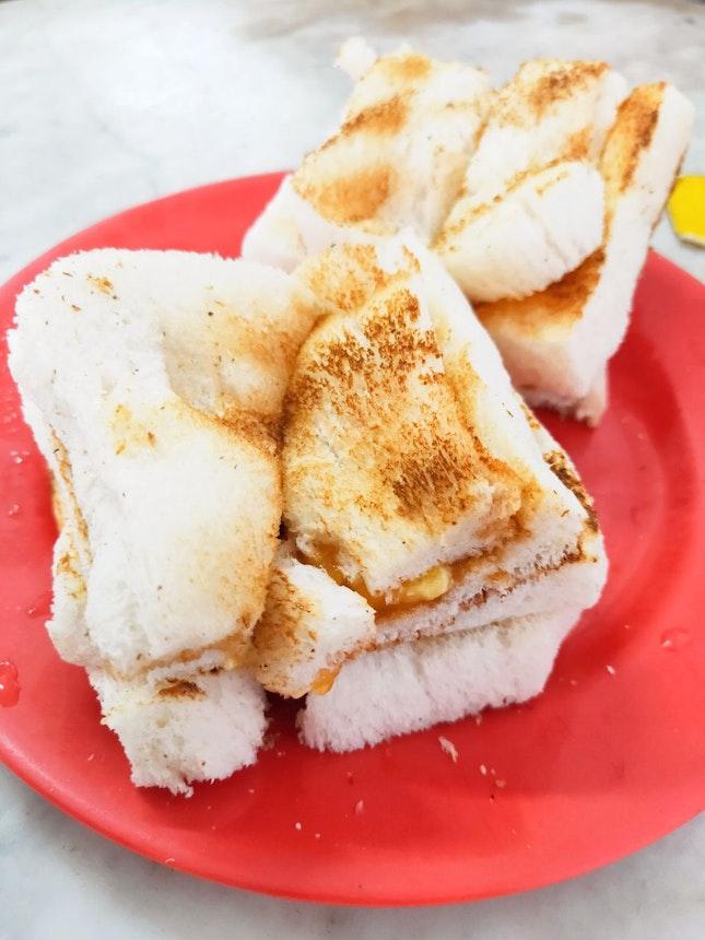Traditional Kaya Toast Breakfast