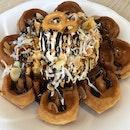 David Waffle (With Chocolate Ice Cream)