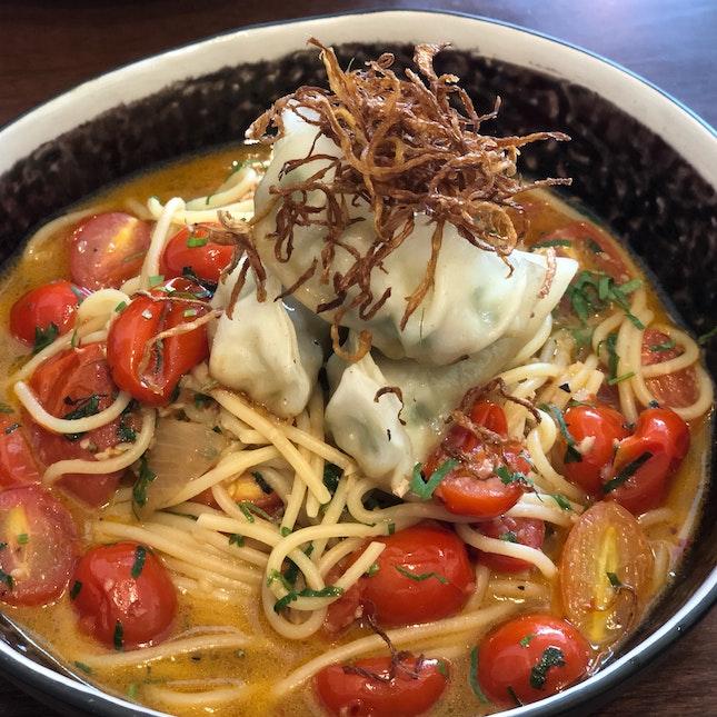 Gyoza spaghetti