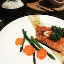 A pretty plate of Miso-glazed salmon at Halal-certified Flava at Siglap.