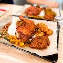 Nasi Lemak with Ayam Goreng Berempah + Rendang