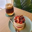 Espresso Tonic & Watermelon Rose Cake