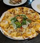 Mad Tomyum pizza ($23++)👍🏻