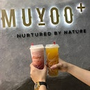 Muyoo+ Feeling refreshed after drinking their fruit tea with peach, kalamansi and passionfruit 😋 .