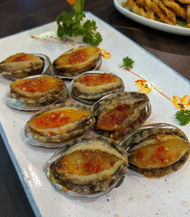 Chiled Abalone in Thai Sauce ($6.80+ per pc)