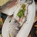 Signature Salt Baked Whole Sea Bass ($32.80++)