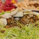 Fried Mian Xian with Seafood