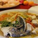 Steamed Pomfret In Teochew Style