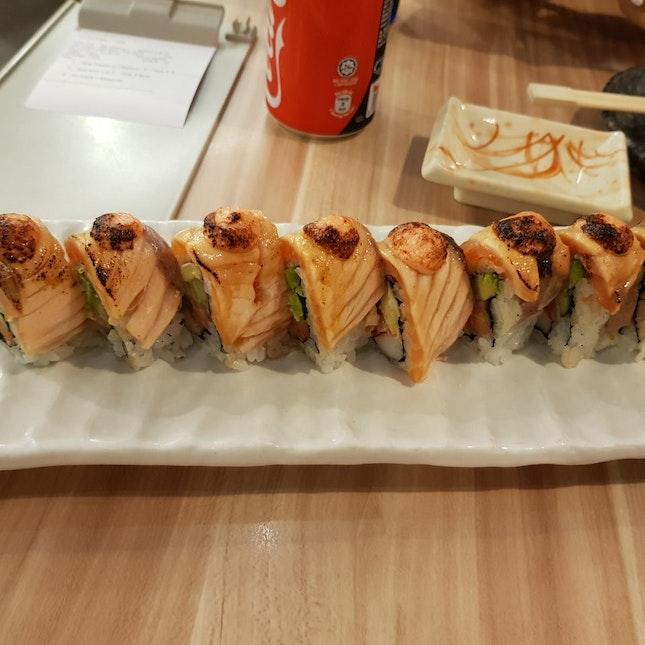 Salmon Aburi Roll $16.90++