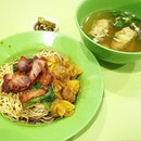wanton mee for breakfast 🍜 supposedly top 10 wanton mee in singapore.