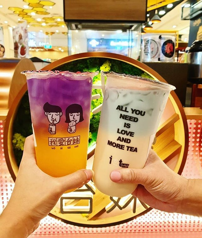All you need is love and more tea ✌🏼💙 #moonriver #ilovetaimei #jewelchangiairport
