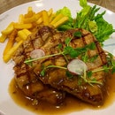 Frank's Mushroom Pork Chop with Fries and Vegetables for lunch today  #ieatishootipost#hungrygowhere#instafood#foodporn#iweeklyfood#yummy#instagram#theteddybearman#eatoutsg#whati8today#yummy#eatoutsg#food#igfoodie#eatingout#eatstagram#sgfood#foodie#foodstagram#SingaporeInsiders#sgfoodie#sgfoodies#burpple#eatbooksg#burrplesg#porkchop