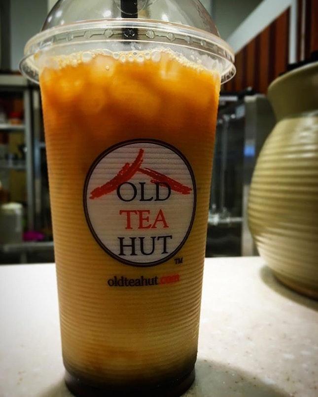 Gula Melaka tea  #oldteahut #sgig #igsg #sgfood #cafe #cafesg #sgcafe #gukamelaka #milktea #burpple