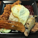 """Finally tried the """"Adam Road"""" nasi lemak (but not at the main stall)."""