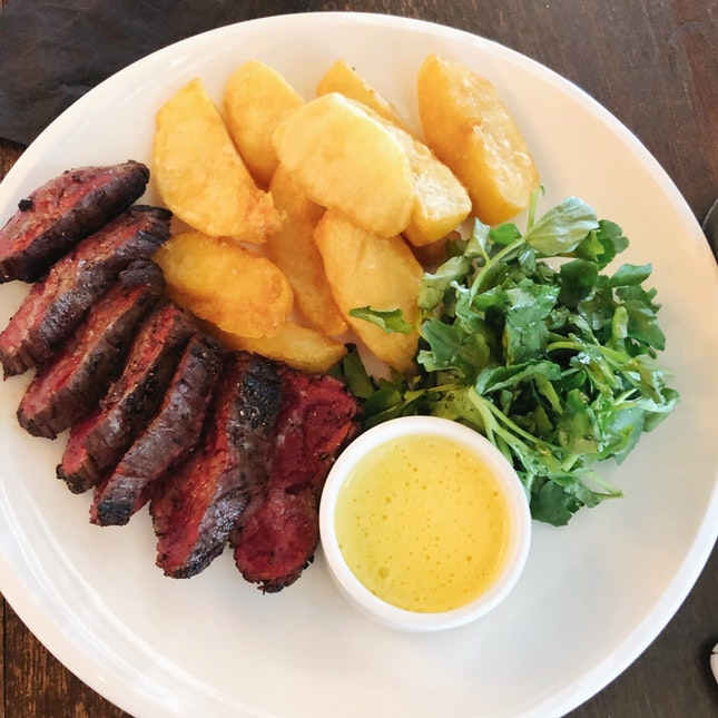 Westholme Bavette Steak and Chips