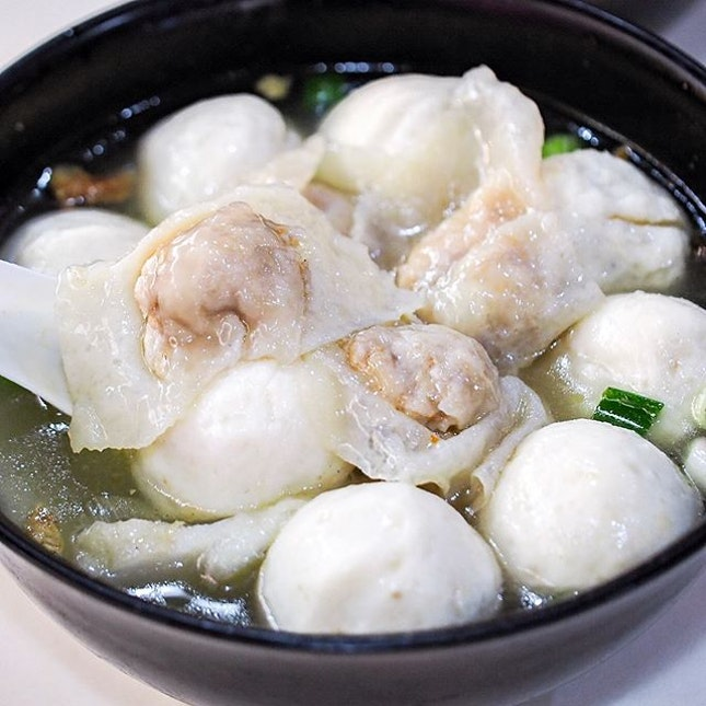 Having these fish dumplings while they are still available.
