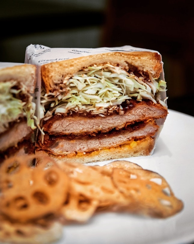 I went there for the apple pie and left my heart with their Double Tonkatsu Sandwich.