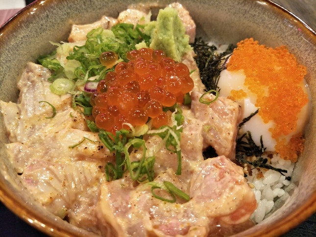 Spicy Mentai Salmon Bowl ($19.90)