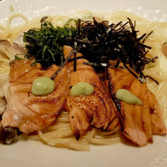 Salmon with Wasabi Cream