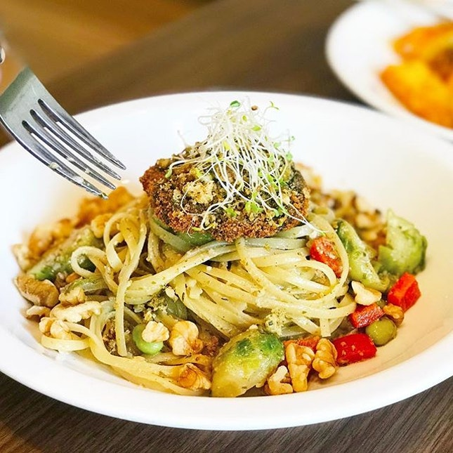 Portobello Christmas Vegetable Pasta [S$19.00]  Major love for mushrooms and this dish from @cedelesingapore didn't disappoint me.