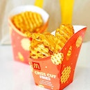 Criss Cut Fries (M/ L)[S$3.70/ S$4.00]・Favourite type of fries from @mcdsg💛 If only it's a permanent item..